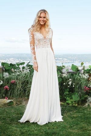 Lilly Wedding Dress with sleeves from Miss Bella Melbourne