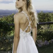 Poet Wedding Dress with back straps