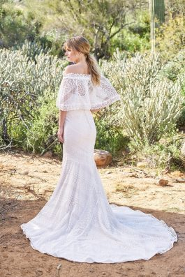 Aylah Wedding Dress back with lace crop