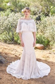 Aylah Wedding Dress front with lace crop