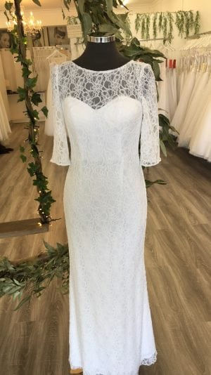 lace long sleeve deb dress