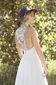 Everley back Wedding Dress