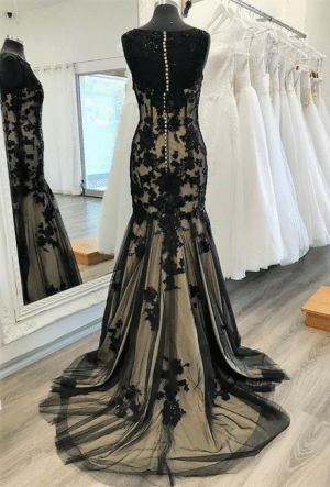 black/champagne Ball gown