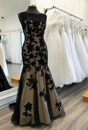 Black - Champagne ball gown